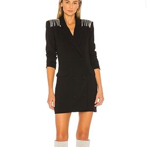 New NBD black blazer dress size small